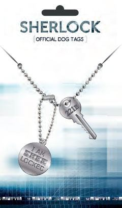 Sherlock Dog Tags with ball chain Sherlocked