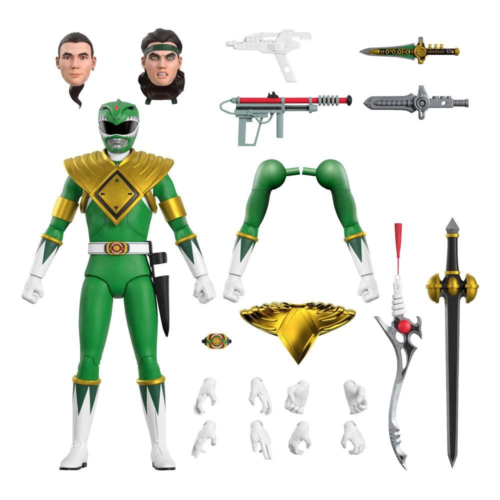 Mighty Morphin Power Rangers Ultimates Action Figure Green Ranger 18 cm