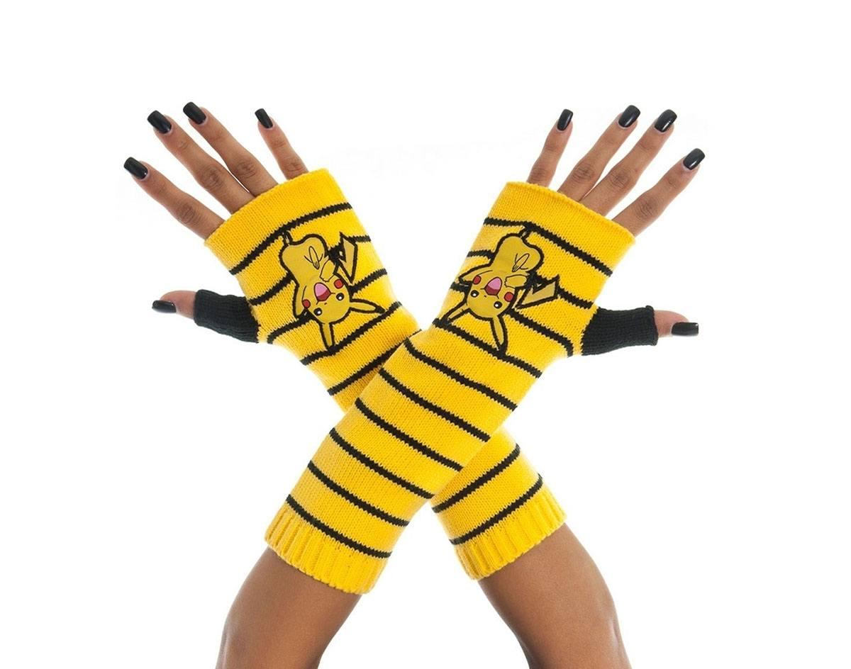 Pokemon Gloves (Fingerless) Pikachu