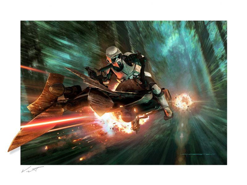 Star Wars: Episode VI Fine Art Print Endor Chase 61 x 91 cm