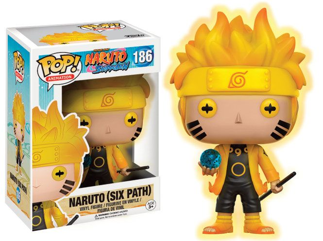Naruto Shippuden POP! Animation Vinyl Figure Naruto (Six Path) GITD 9 cm