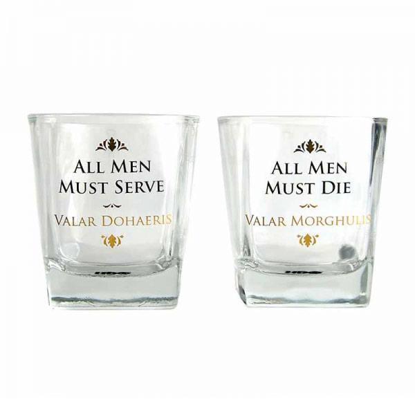 Game of Thrones Drinking Glass 2-Pack Valar Dohaeris / Valar Morghulis