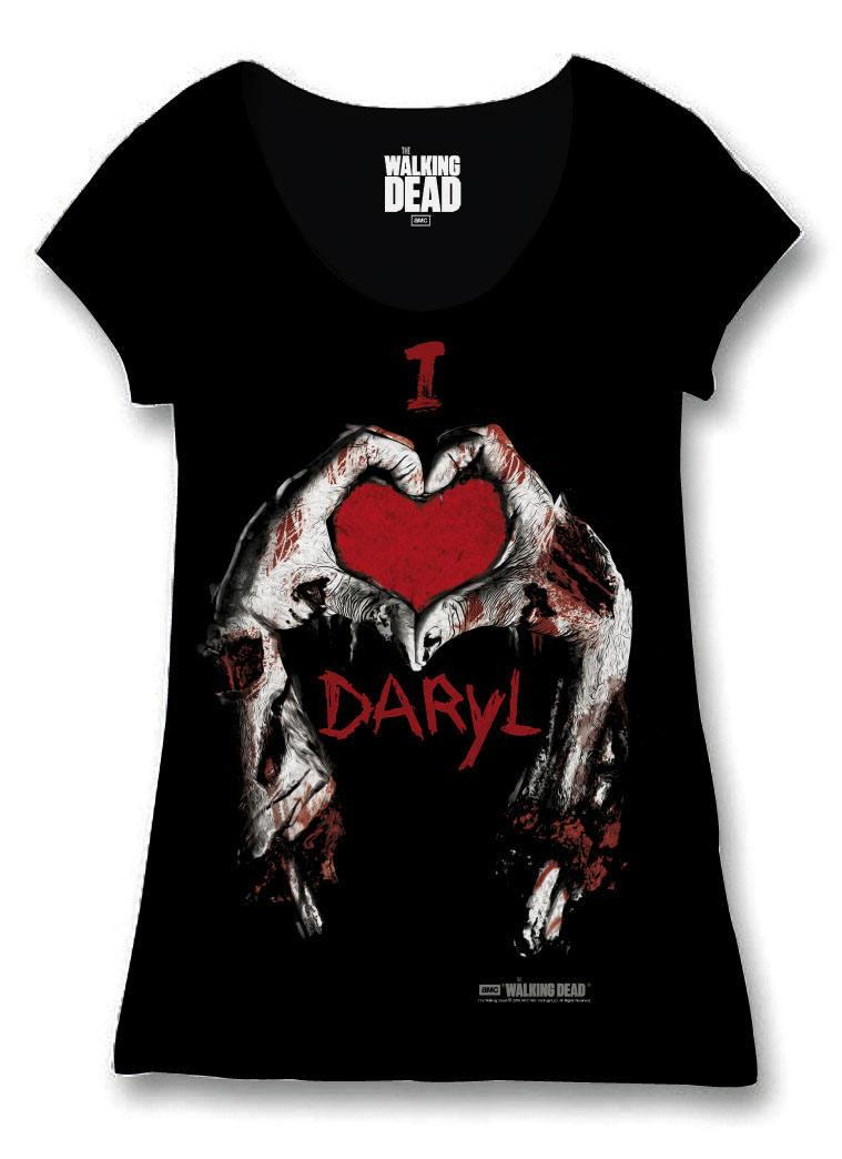 Walking Dead Ladies T-Shirt I Love Daryl Size L