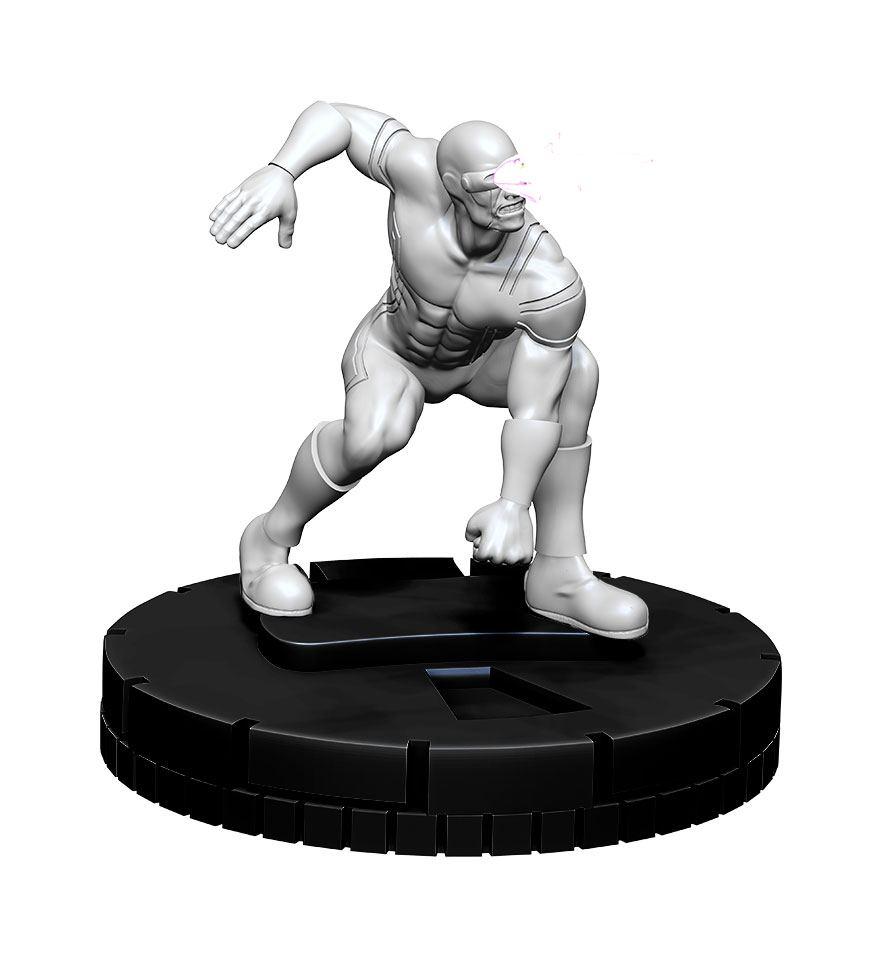 Marvel HeroClix Deep Cuts Unpainted Miniature Cyclops Case (4)