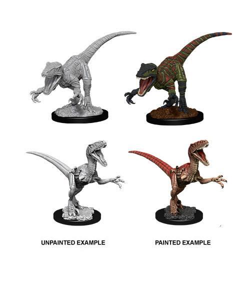 WizKids Deep Cuts Unpainted Miniature Raptors Case (6)
