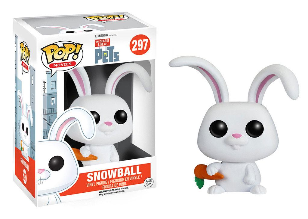 Secret Life of Pets POP! Movies Vinyl Figure Snowball 8 cm