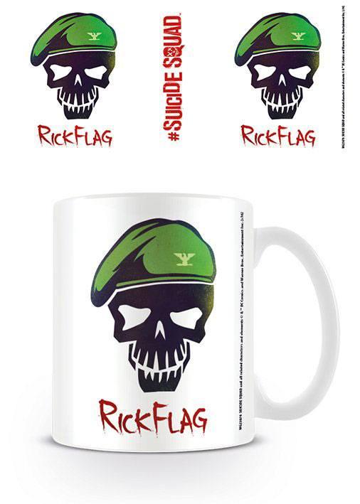 Suicide Squad Mug Rick Flag Skull