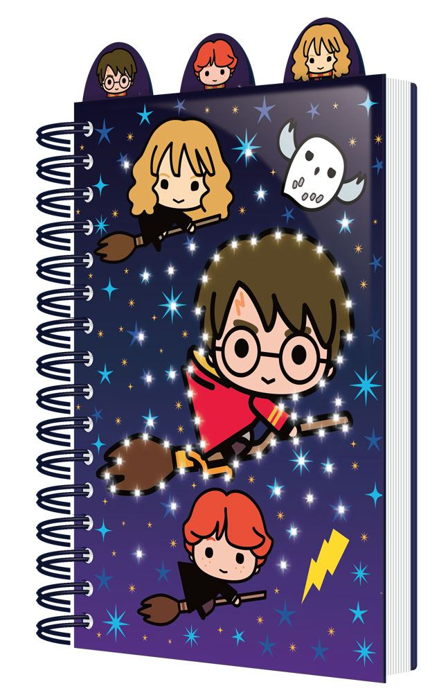 Harry Potter Light Up Notebook with Dividers A5 Chibi Characters