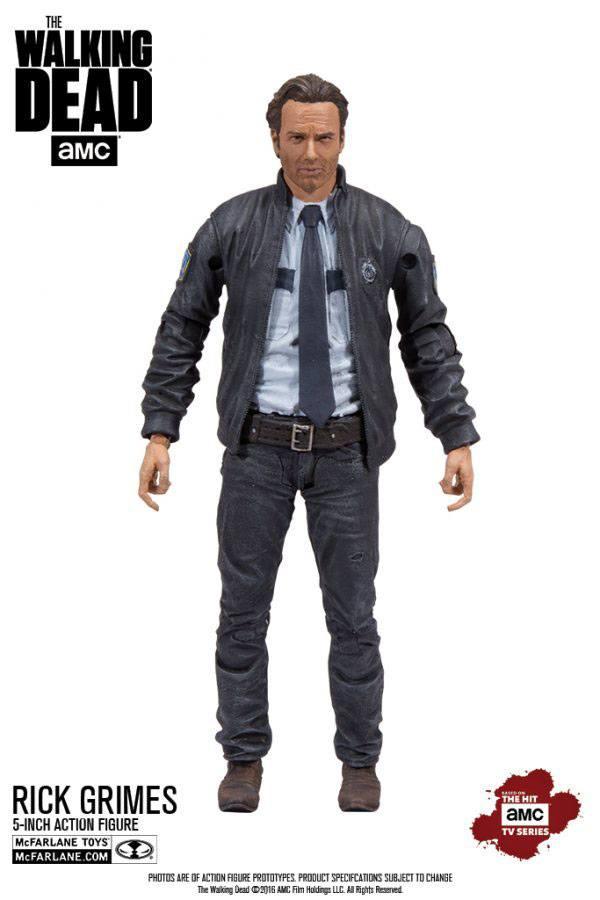 The Walking Dead TV Version Action Figure Constable Rick Grimes 13 cm