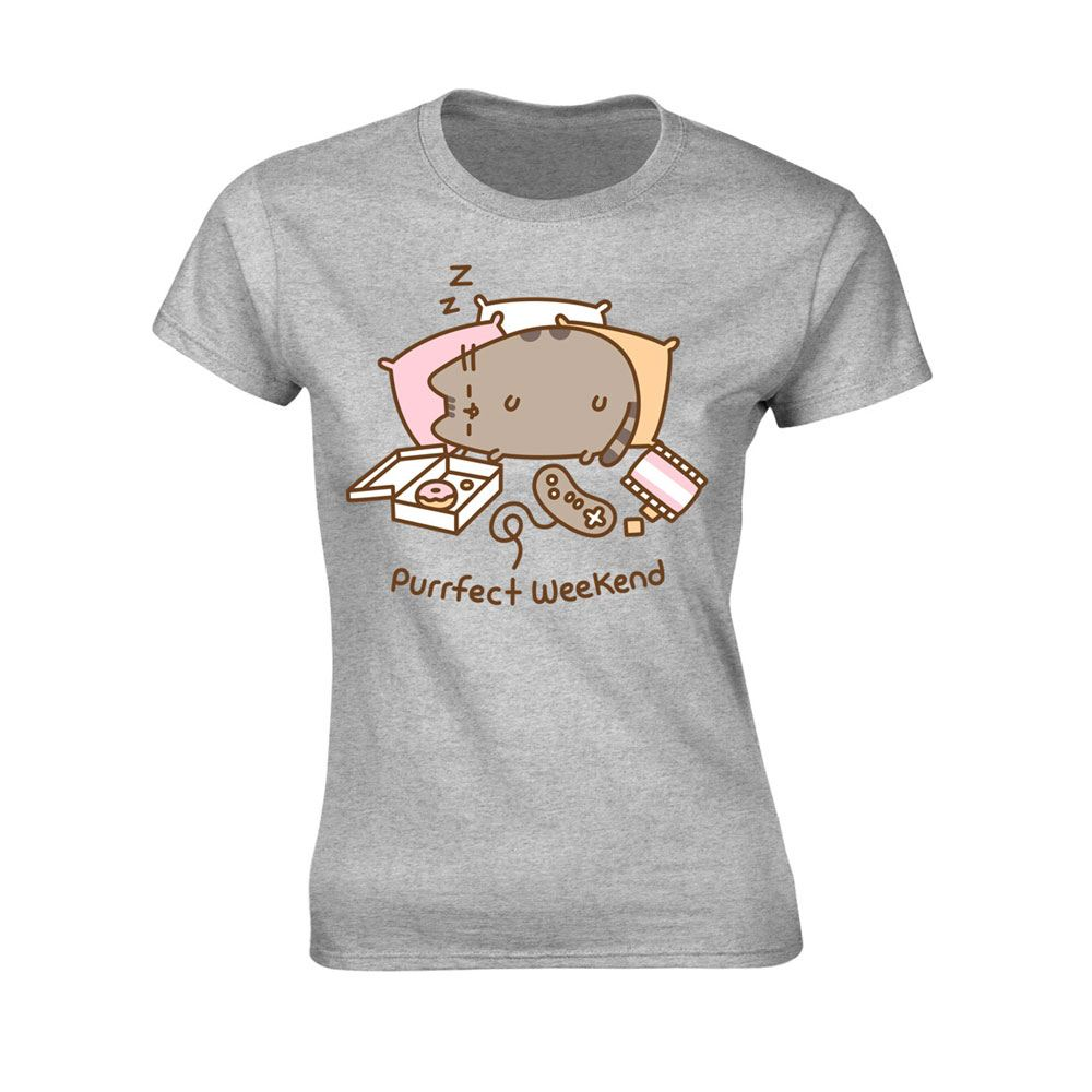 Pusheen Ladies T-Shirt Purrfect Weekend Grey Size M