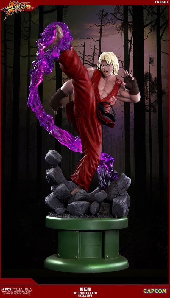 Ultra Street Fighter II Statue 1/4 Violent Ken Exclusive 63 cm
