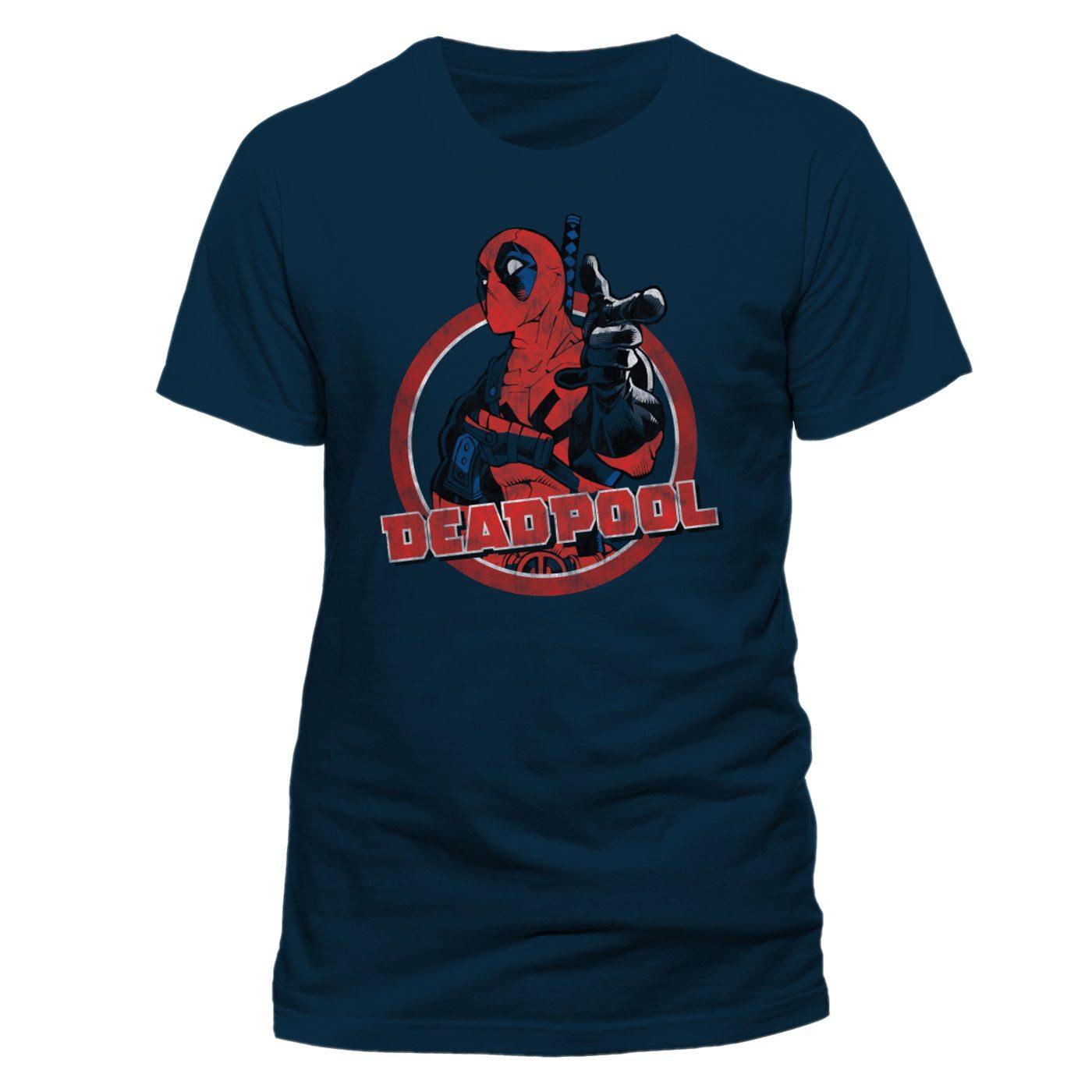 Deadpool T-Shirt Logo Point Size S