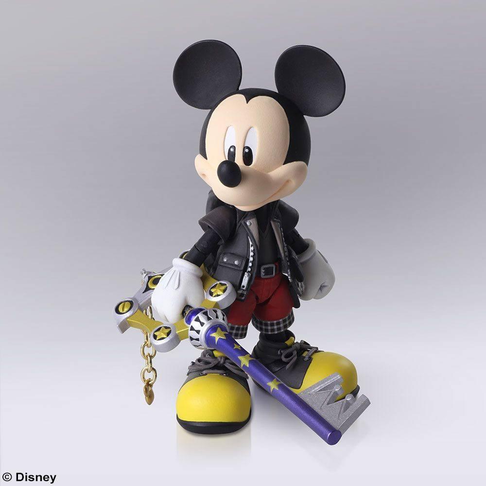 Kingdom Hearts III Bring Arts Action Figure King Mickey 9 cm