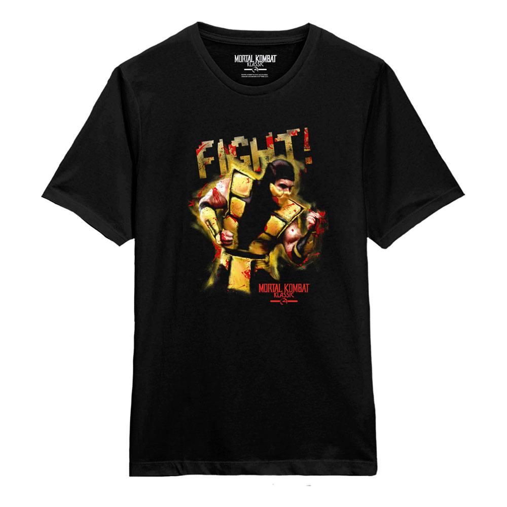Mortal Kombat T-Shirt Scorpion Fight! Size L