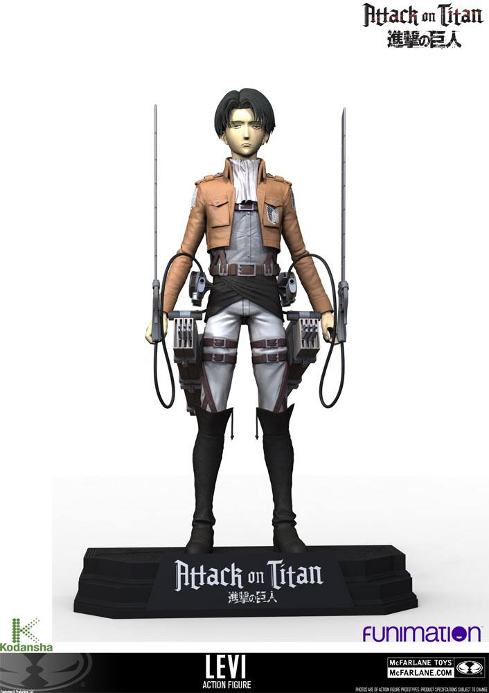 Attack on Titan Action Figure Levi Ackerman 18 cm