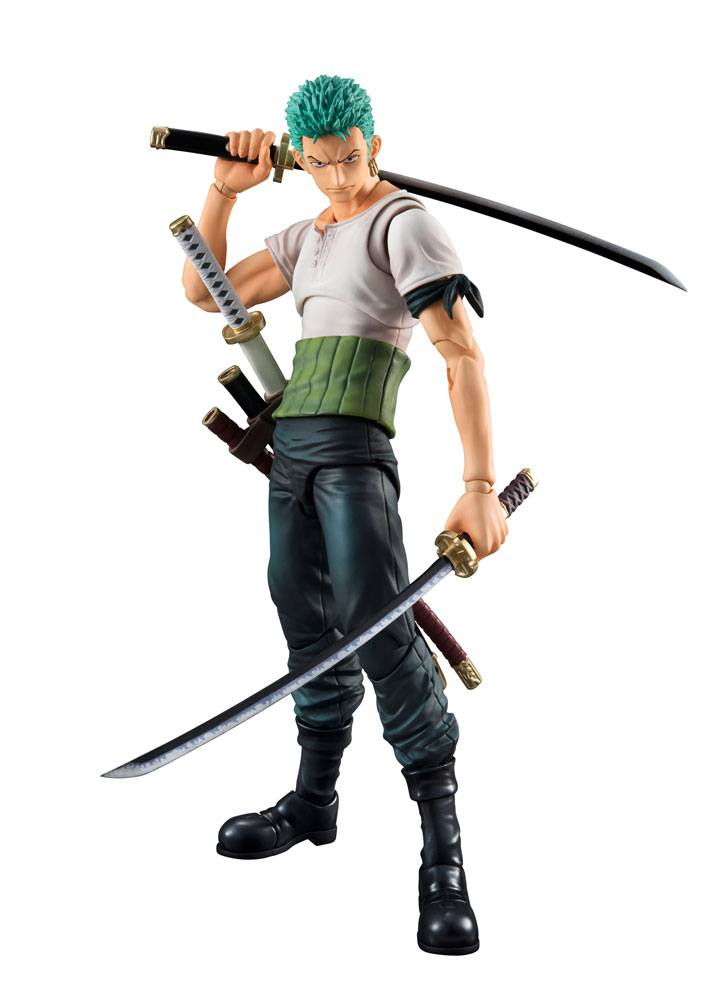 One Piece Variable Action Heroes Action Figure Roronoa Zoro Past Blue 19 cm