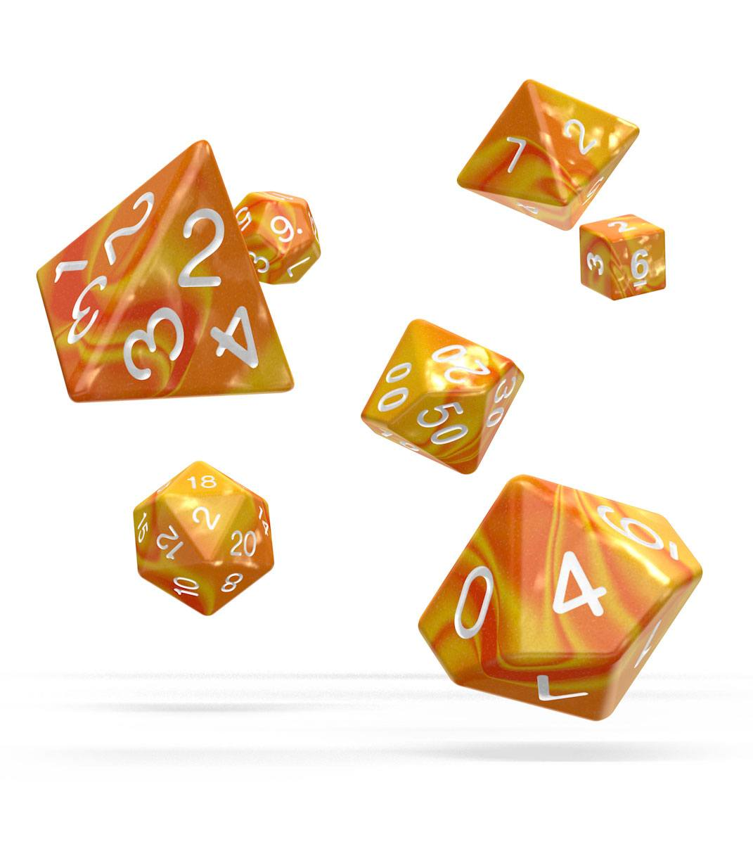 Oakie Doakie Dice RPG Set Gemidice - Sunstone (7)