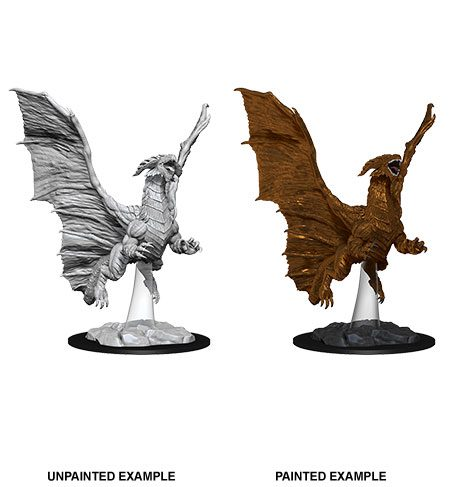 D&D Nolzur's Marvelous Miniatures Unpainted Miniature Young Copper Dragon Case (6)