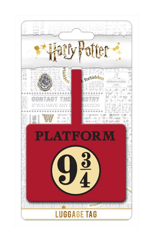 Harry Potter Rubber Luggage Tag Platform 9 3/4