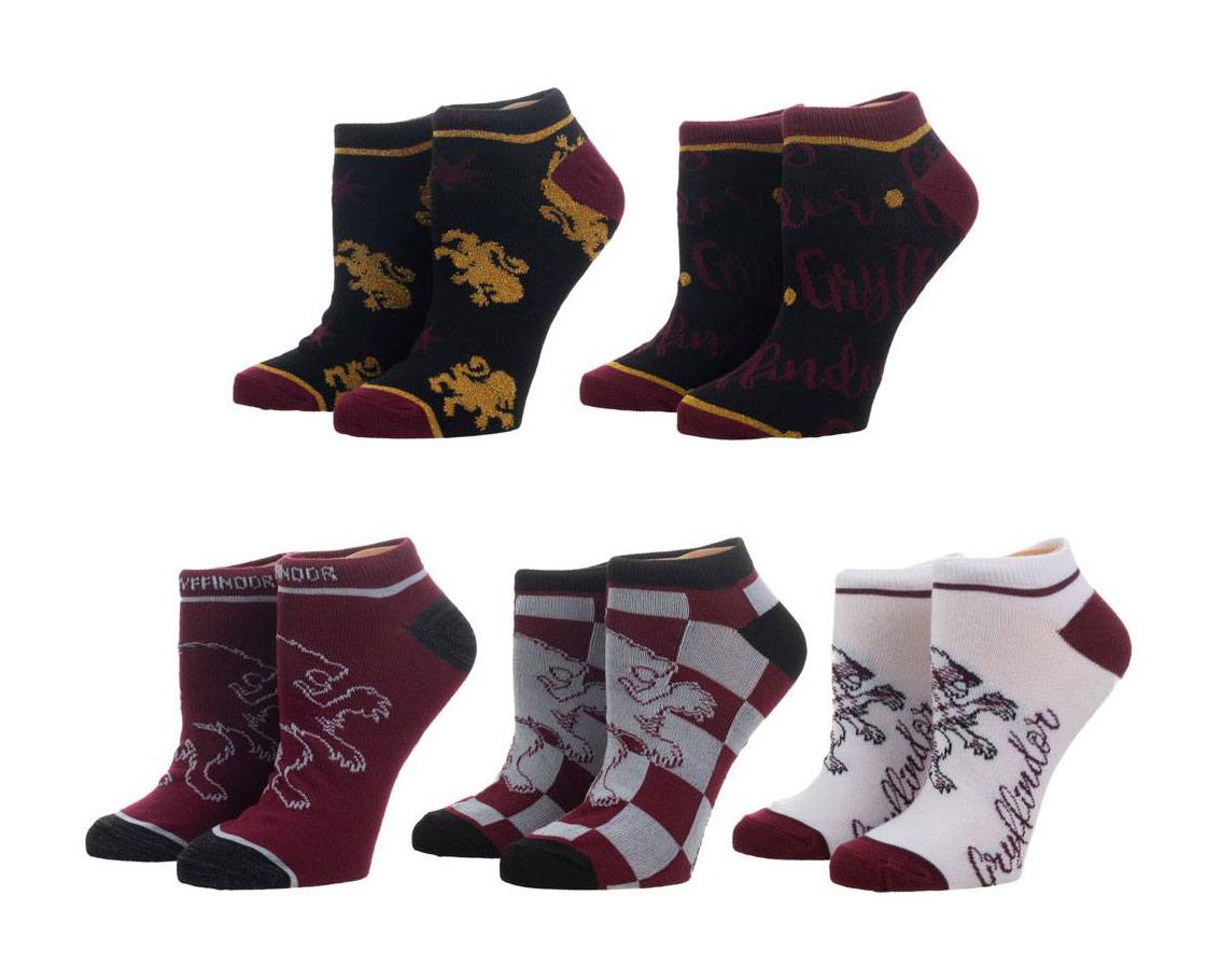 Harry Potter Ladies Ankle Socks 5-Pack Gryffindor