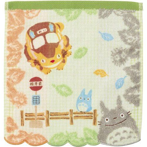 My Neighbor Totoro Mini Towel Totoro & Bus Stop 25 x 25 cm