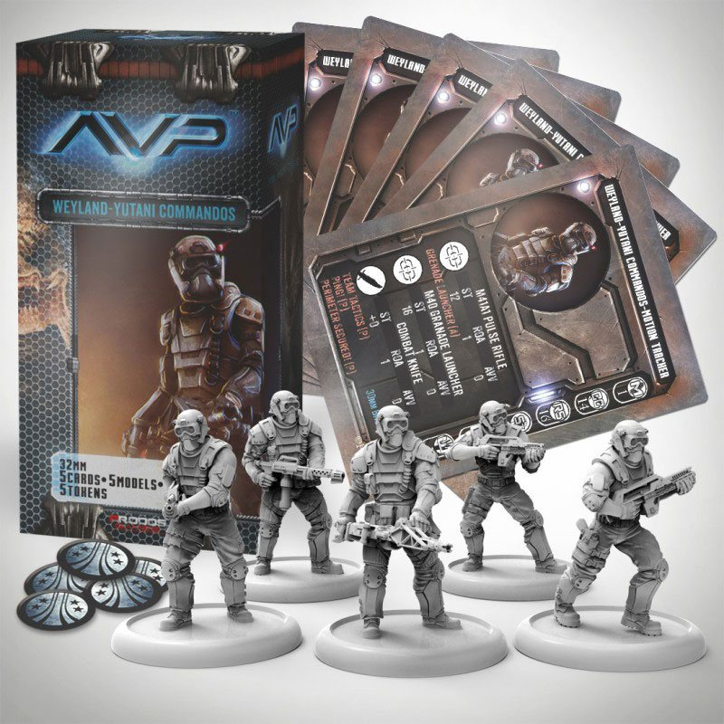 AvP Tabletop Game The Hunt Begins Expansion Pack Weyland Yutani Commandos *German Version*