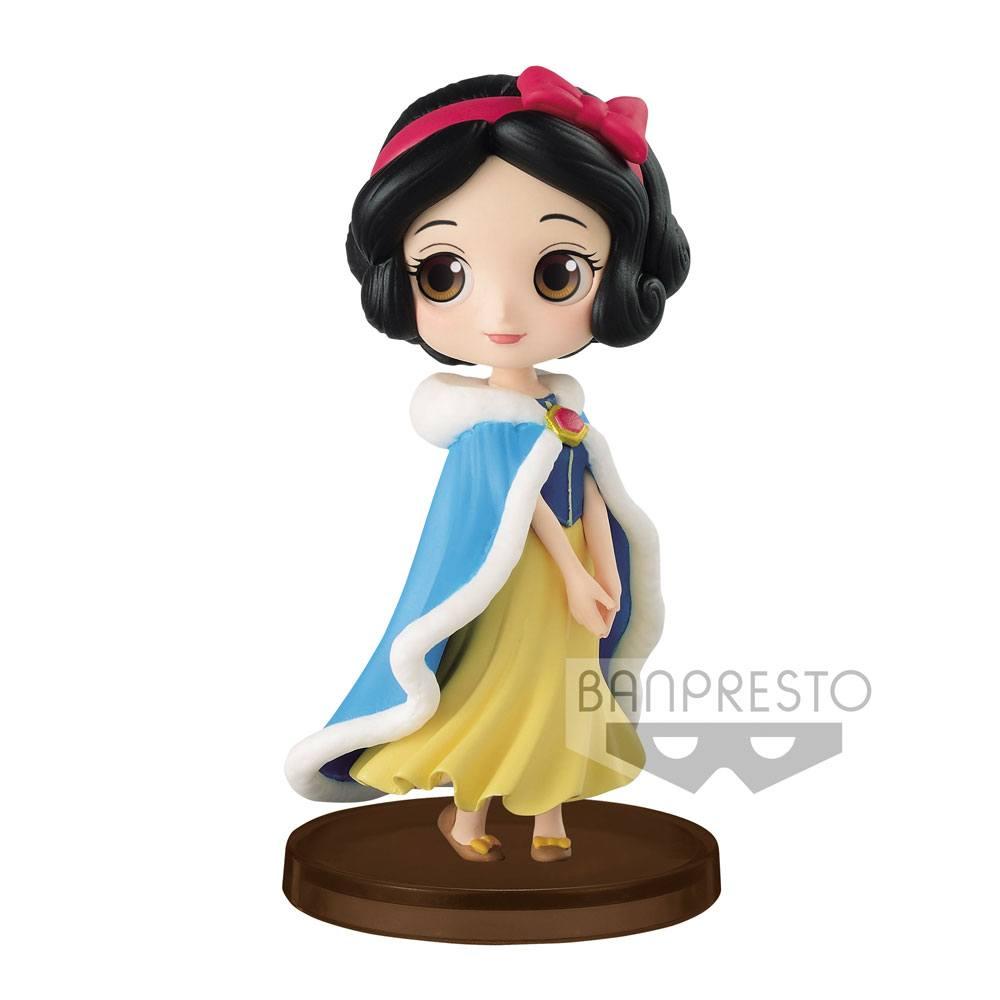 Disney Q Posket Petit Girls Festival Mini Figure Snow White Winter Costume 7 cm