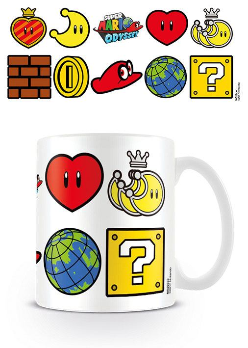 Super Mario Odyssey Mug Icons