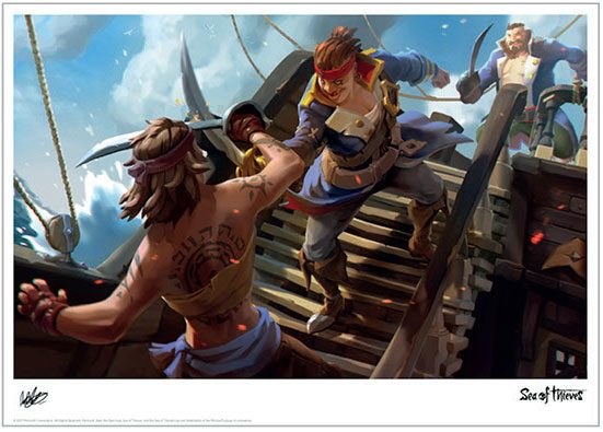 Sea of Thieves Art Print Battle 42 x 30 cm