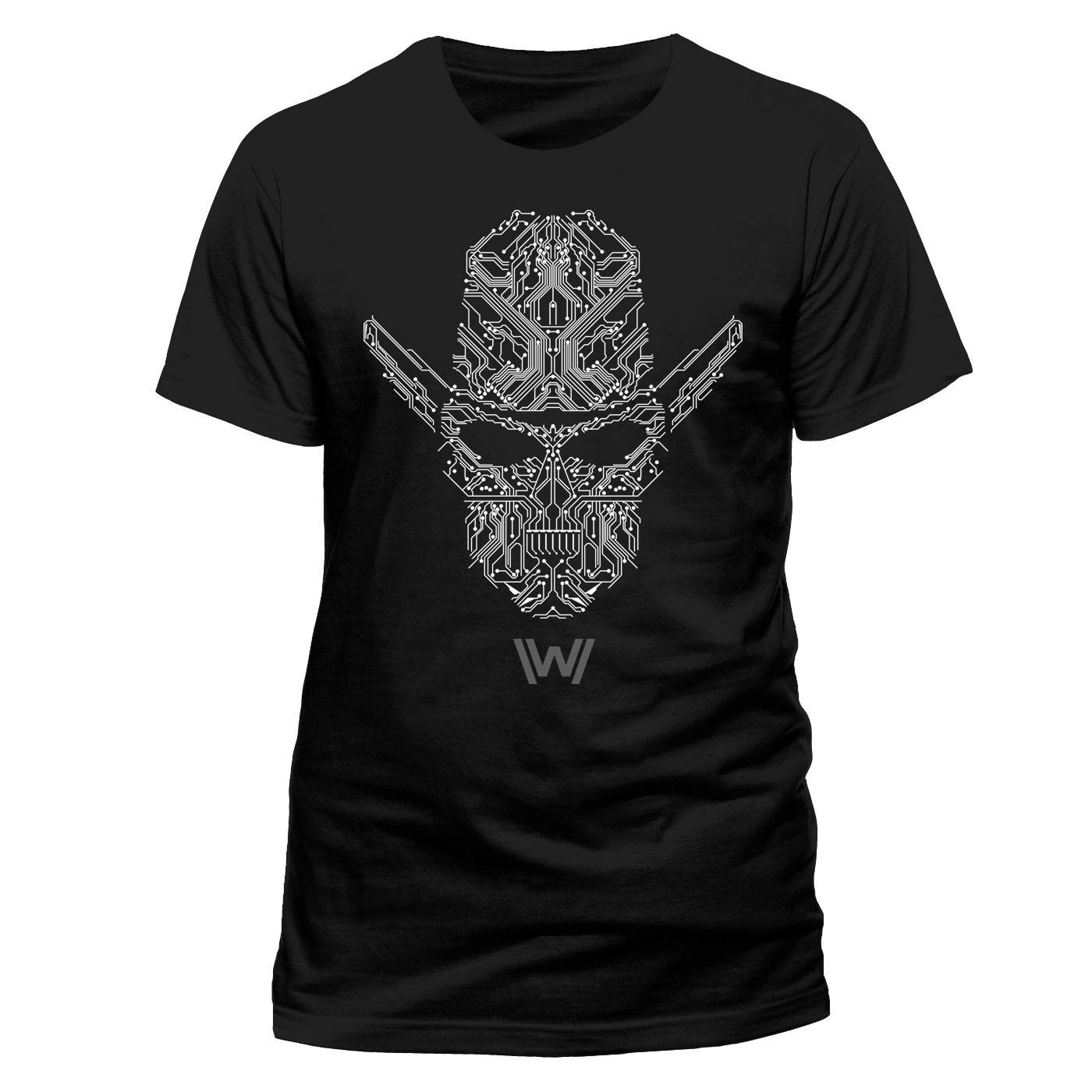 Westworld T-Shirt Circuit Face Size L