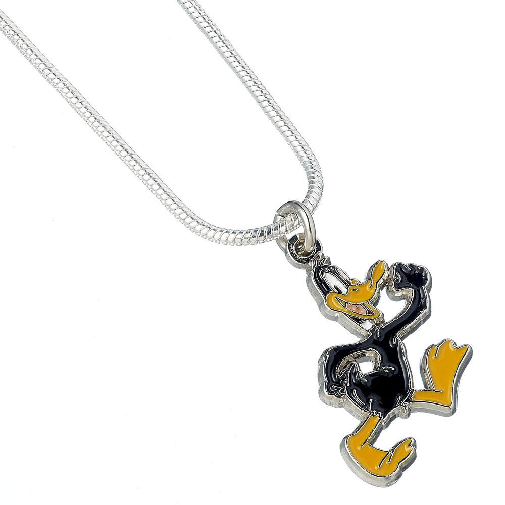 Looney Tunes Pendant & Necklace Daffy Duck (silver plated)