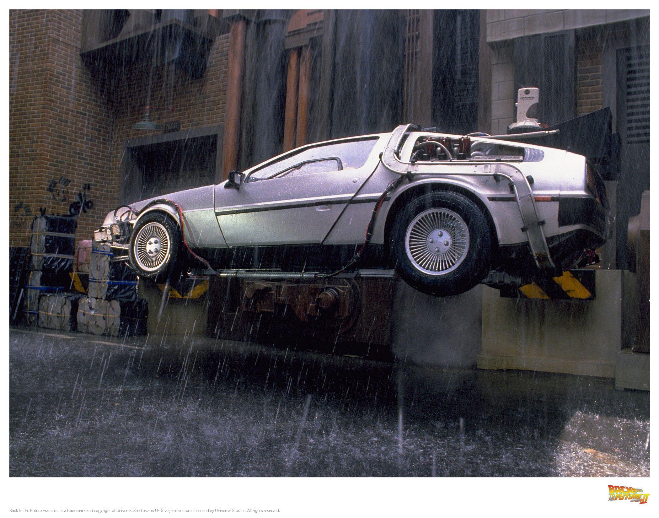 Back to the Future II Art Print DeLorean 2 35 x 28 cm
