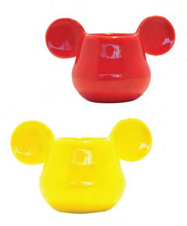 Mickey Mouse 3D Espresso Mugs 2-Pack Yellow & Red