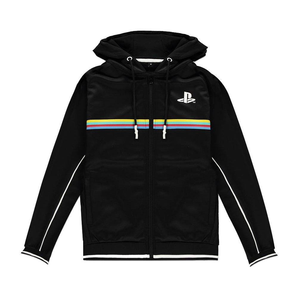 Sony PlayStation Hooded Sweater Color Stripe Size S