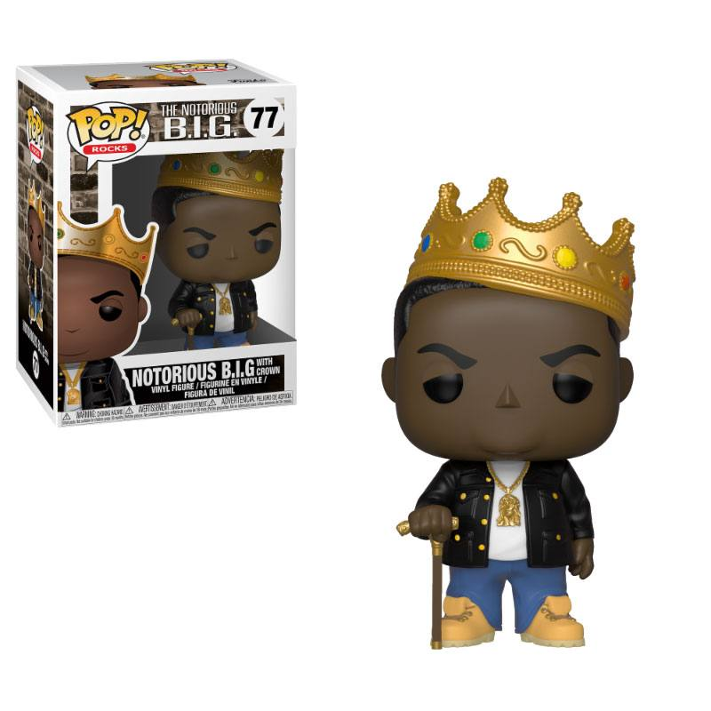 Notorious B.I.G. POP! Rocks Vinyl Figure Notorious B.I.G. with Crown 9 cm