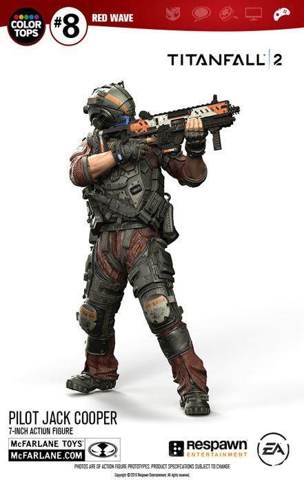 Titanfall 2 Color Tops Action Figure Pilot Jack Cooper 18 cm