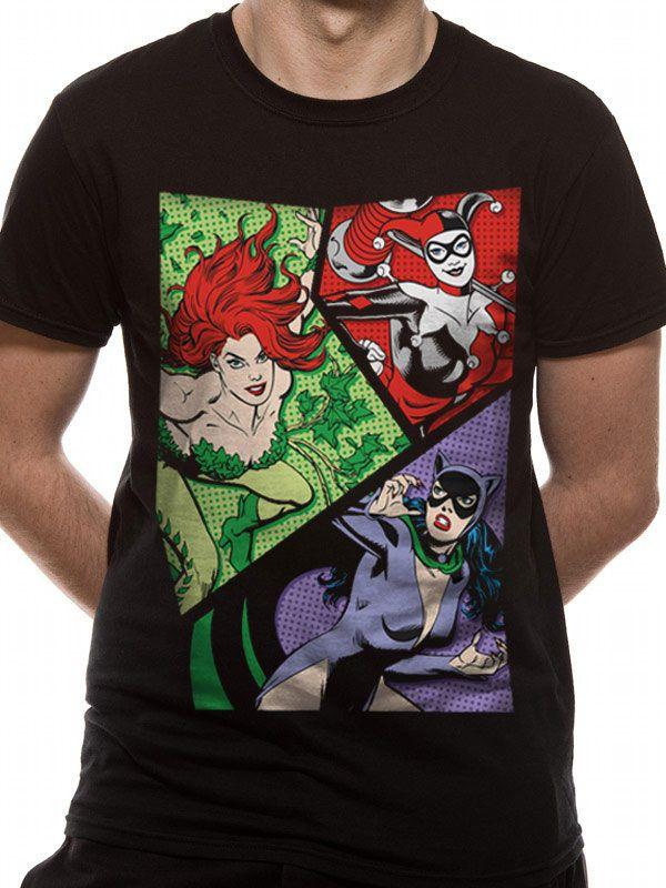 DC Comics T-Shirt Villainesses Size XL