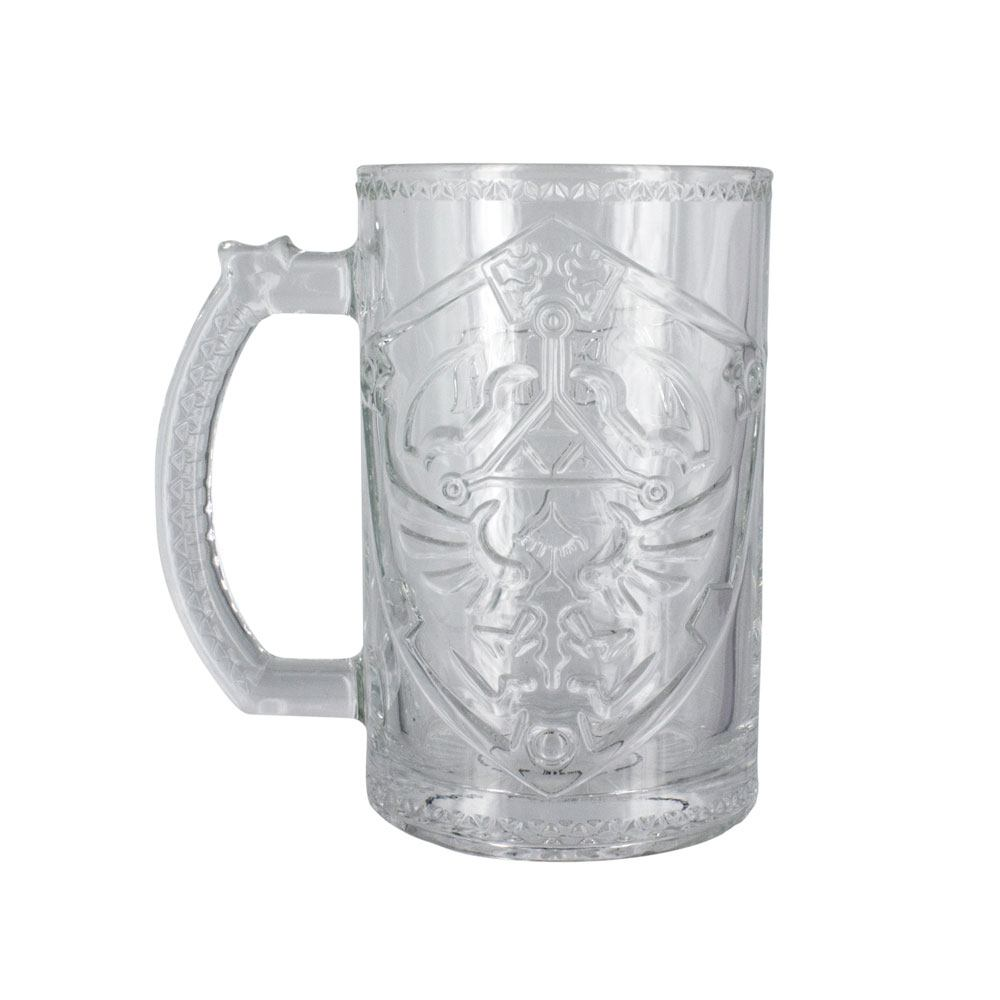 Legend of Zelda Beer Pint Glass Hylian Shield