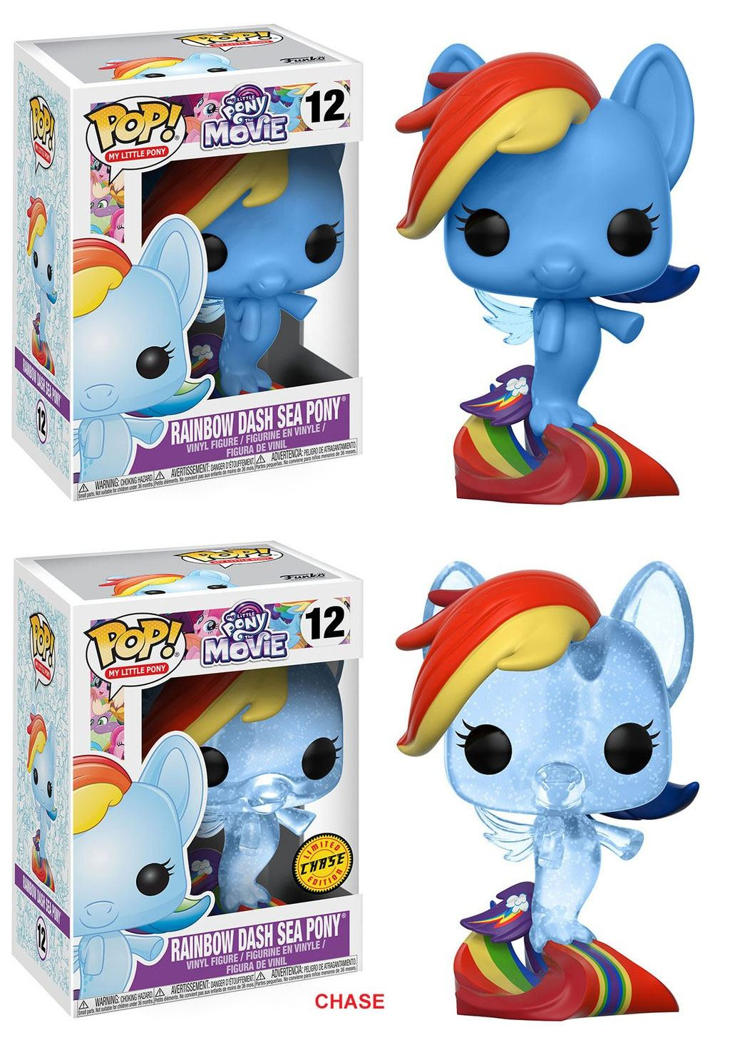 My Little Pony Movie POP! Movies Figures Rainbow Dash Sea Pony 9 cm Assortment (6)