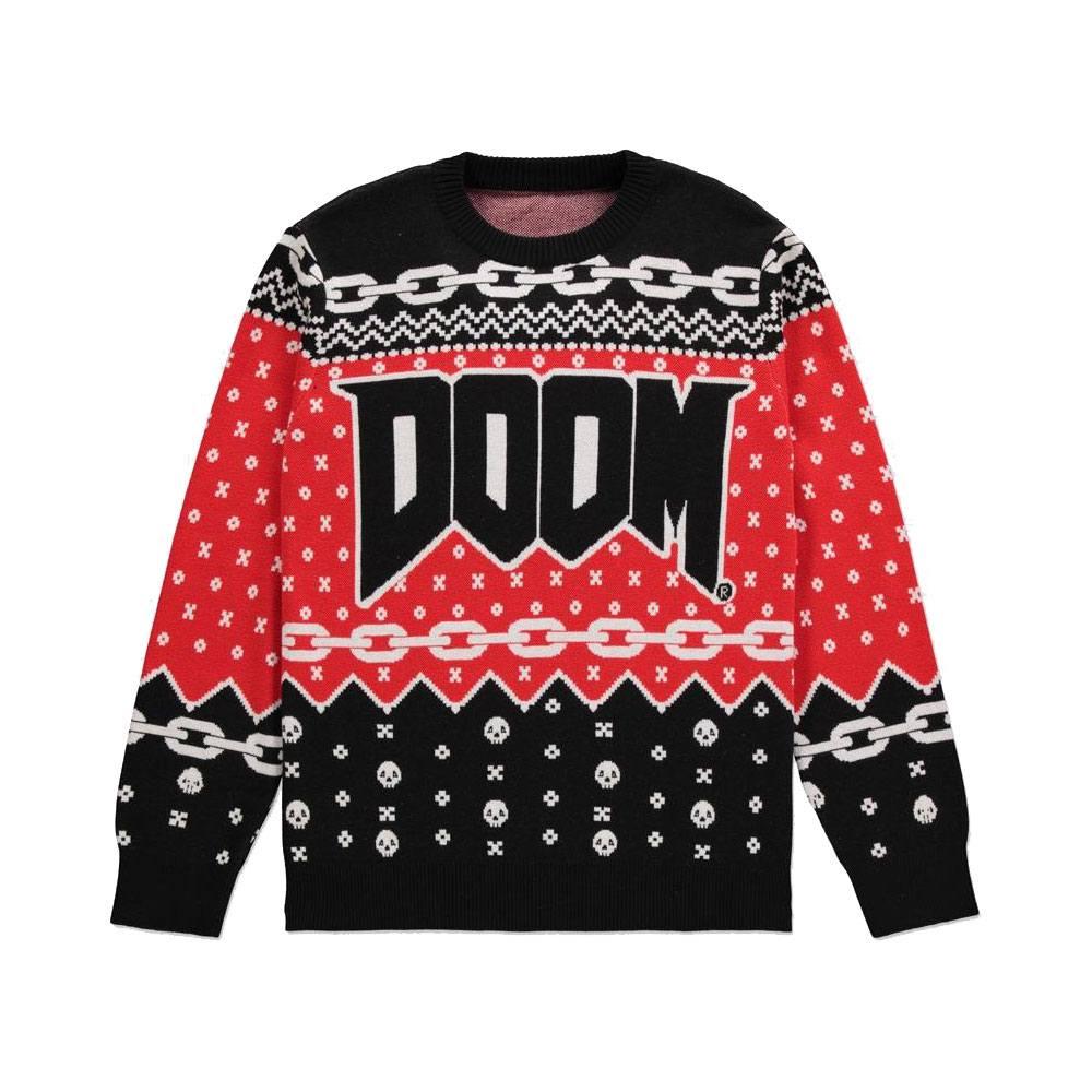 Doom Knitted Christmas Doom Logo Size L