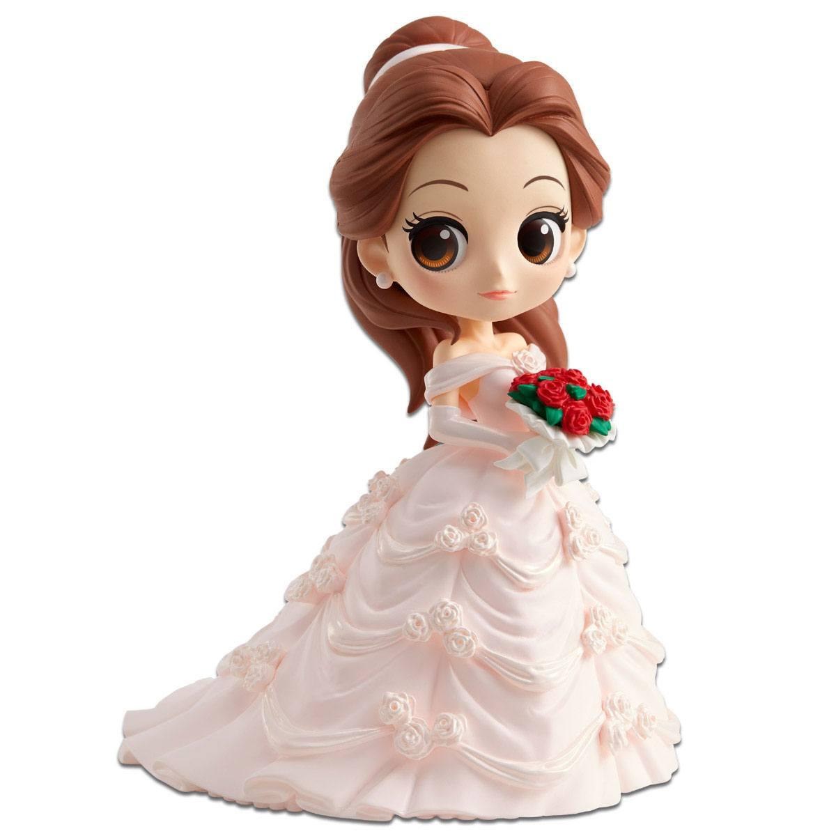 Disney Q Posket Mini Figure Belle Dreamy Style A Normal Color Version 14 cm