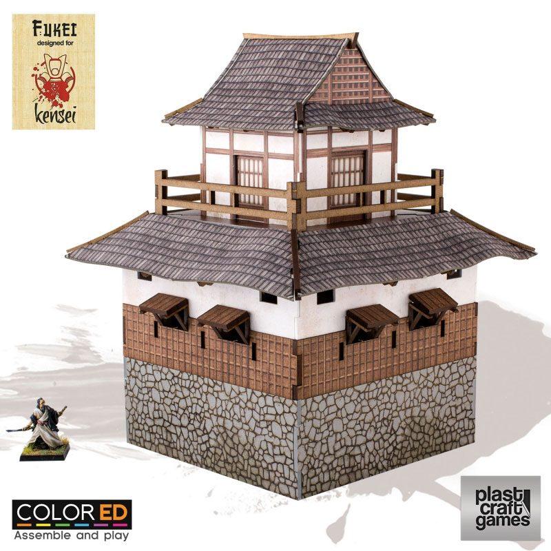 Kensei ColorED Miniature Gaming Model Kit 28 mm Sumi Tower