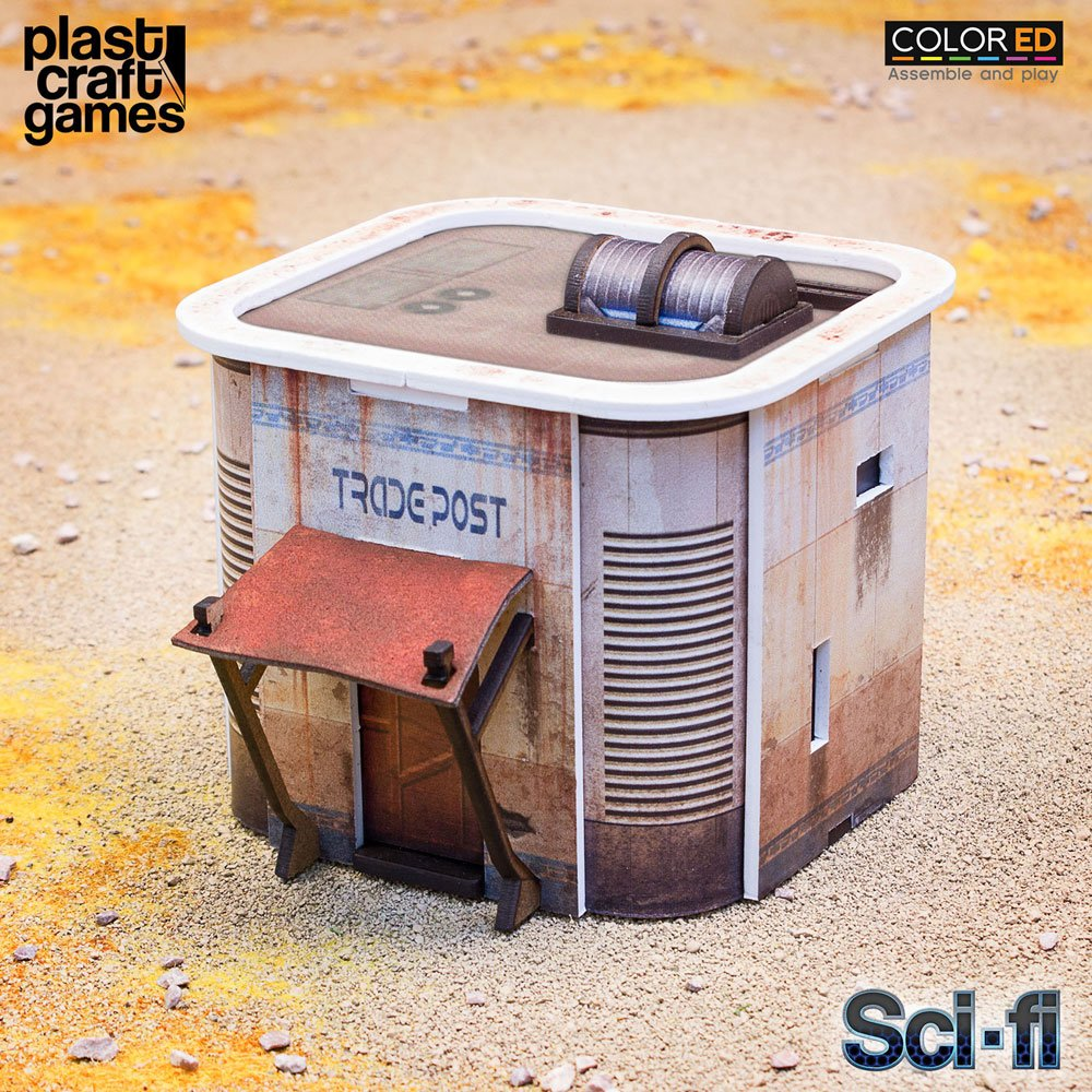Sci-fi ColorED Miniature Gaming Model Kit 28 mm Consortium Tradepost