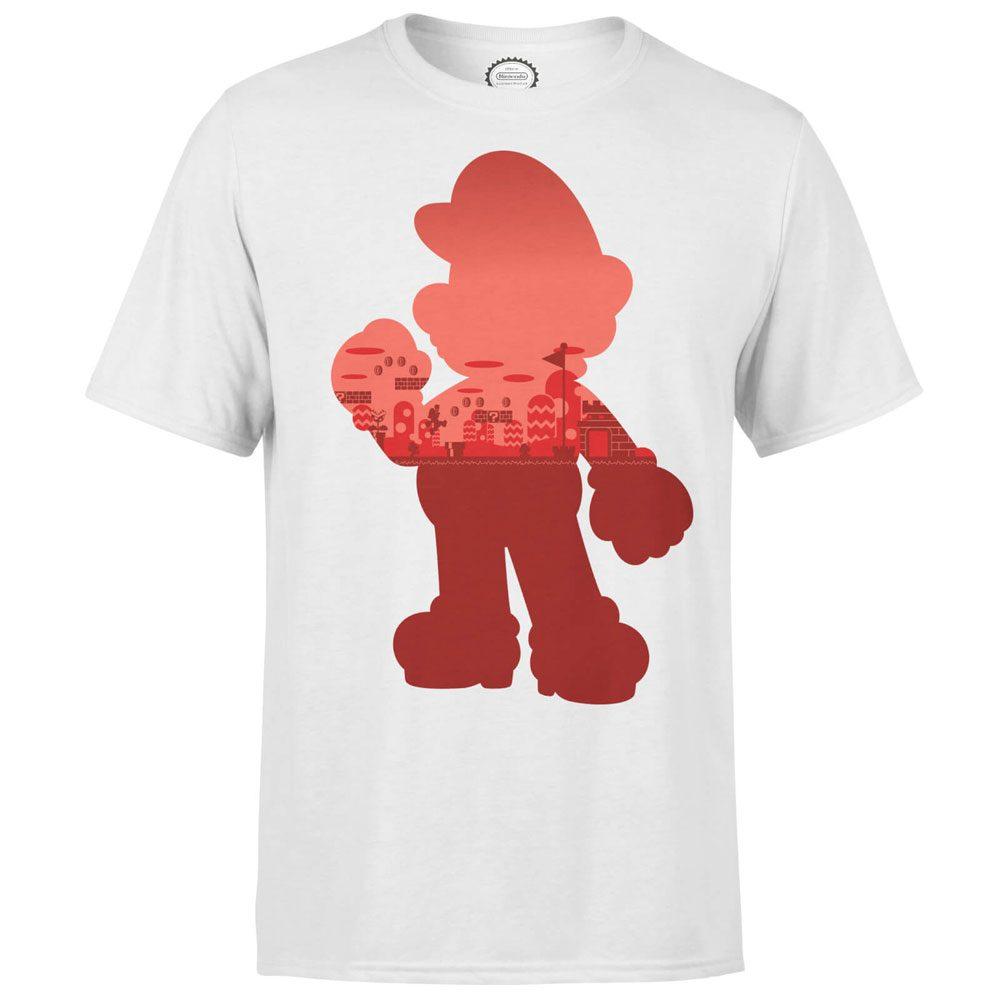 Nintendo T-Shirt Mario Silhouette Size L
