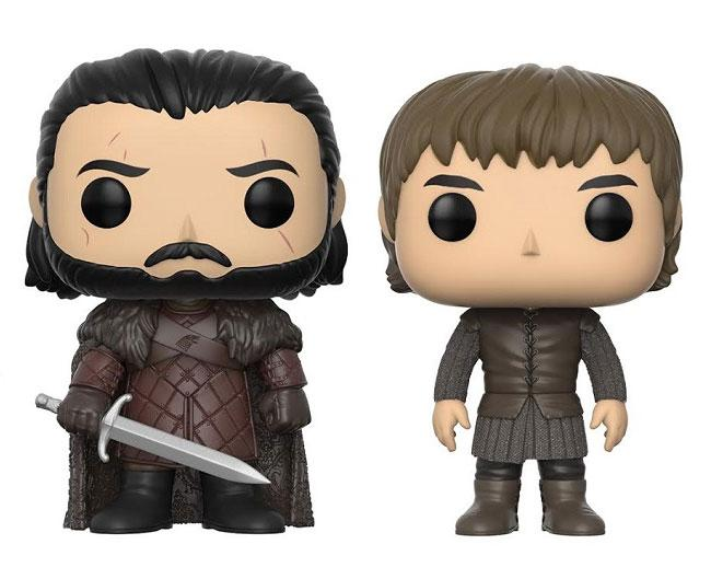 Game of Thrones POP! Vinyl Figures 2-Pack Jon Snow & Bran Stark 9 cm