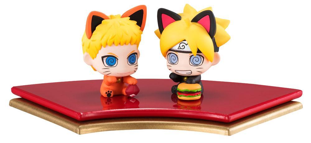 Boruto Naruto Next Generation Petit Chara Land Trading Figure 2-Pack Oyako Manekineko Dattebasa!