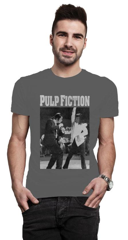 Pulp Fiction T-Shirt Dancing Poster Size L