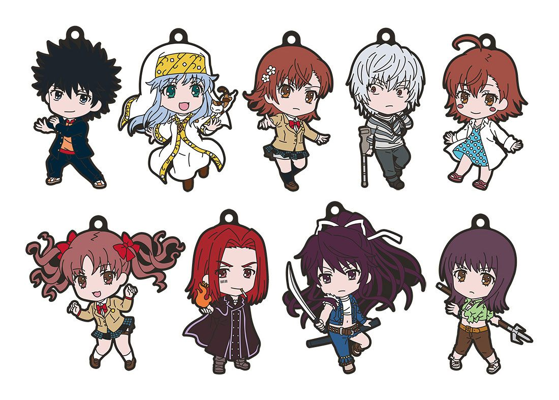 A Certain Magical Index III Nendoroid Plus Rubber Keychain 9-Pack 6 cm
