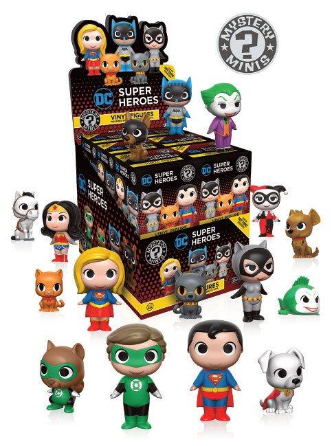 DC Comics Mystery Mini Figures 5 cm Display DC Heroes & Pets Limited Mix (12)