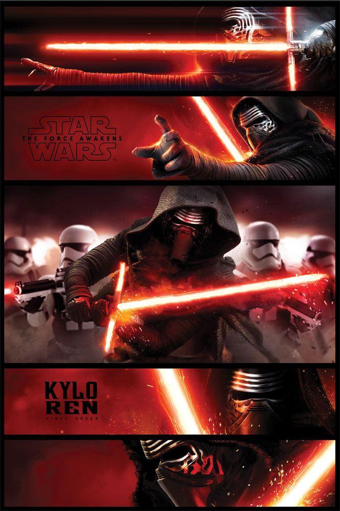 Star Wars Episode VII Poster Pack Kylo Ren Panels 61 x 91 cm (5)